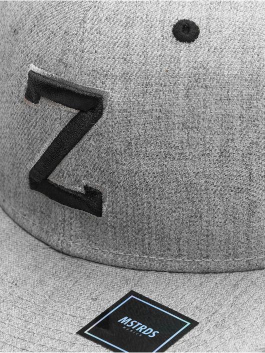 MSTRDS Snapback Cap Z Letter grau
