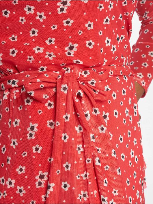 NA-KD Šaty Mesh Wrap červený