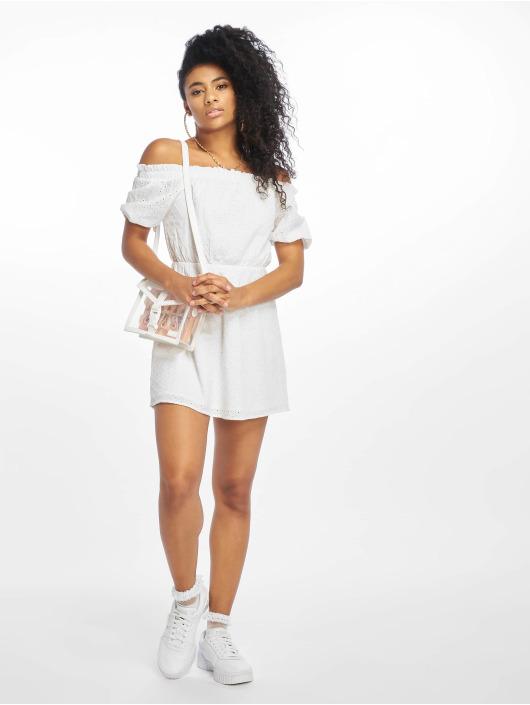 NA-KD Šaty Off Shoulder Puffy Sleeve biela