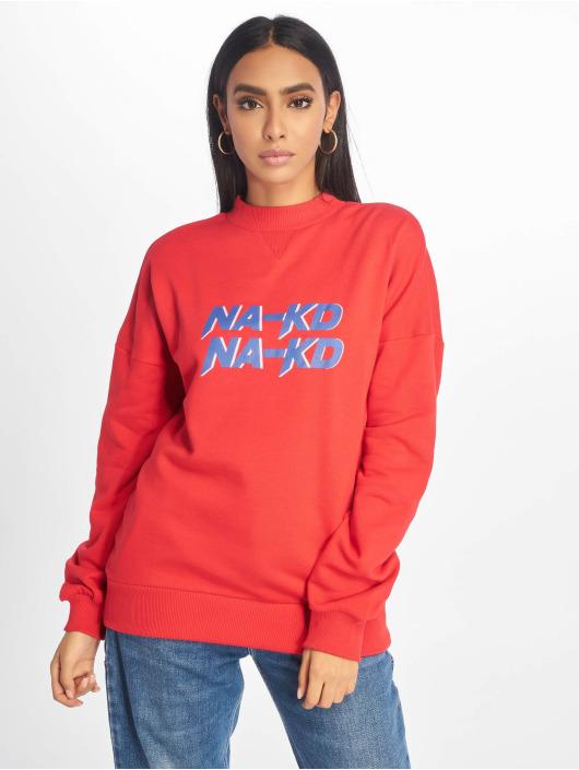 NA-KD Пуловер High Collar красный