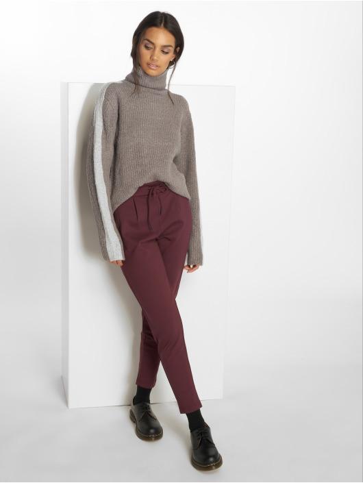 NA-KD Пуловер Panel Knitted серый