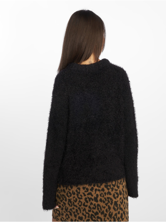 NA-KD Пуловер Feather Wide Sleeve черный