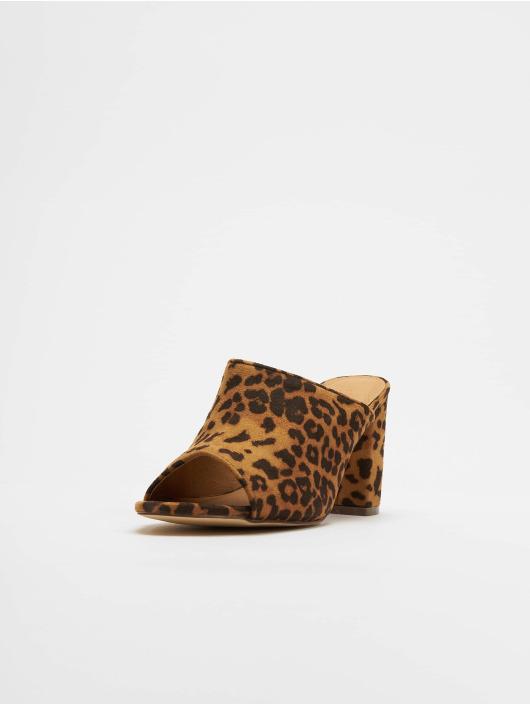 NA-KD Шлёпанцы Leopard коричневый
