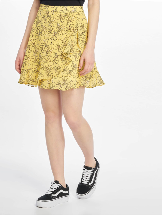 NA-KD Юбка Floral Printed желтый