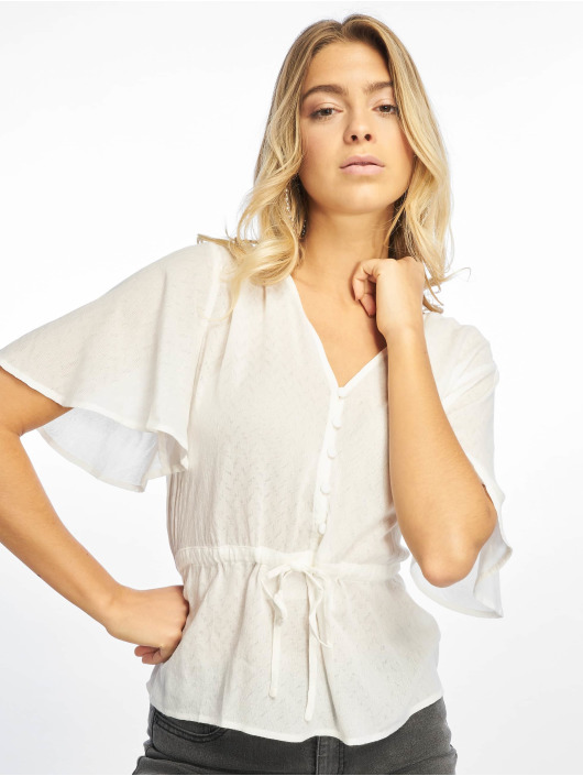 NA-KD Blouse & Chemise Tie Waist Button blanc