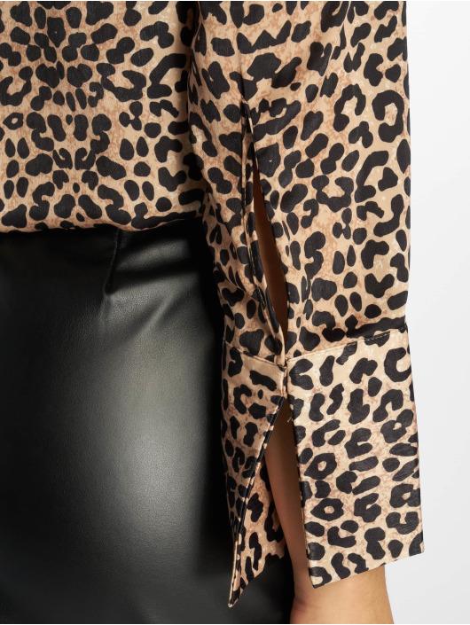 NA-KD Bluse Wrap Satin Top brun