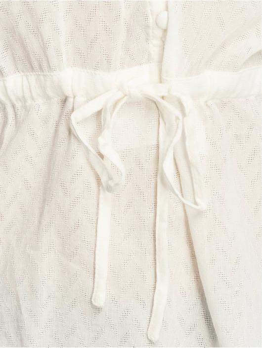 NA-KD Bluse Tie Waist Button hvid