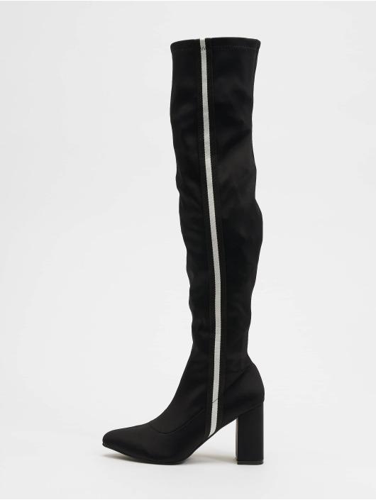 NA-KD Boots Striped Overknee black