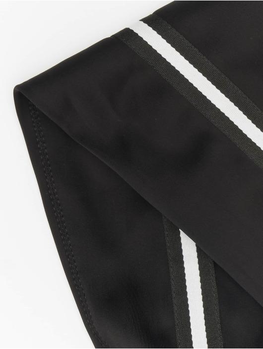 NA-KD Boots Striped Overknee schwarz