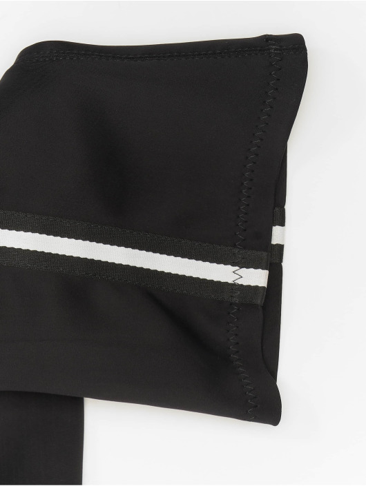 NA-KD Bota Striped Overknee negro