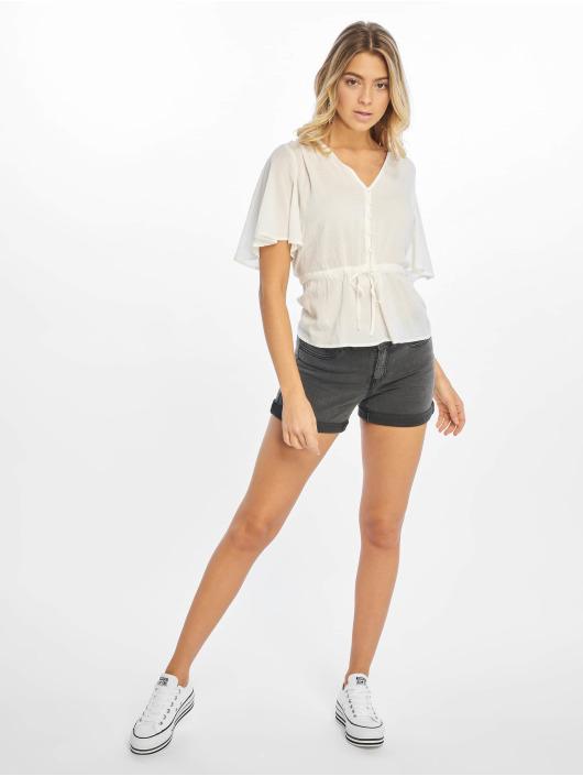 NA-KD Camicia/Blusa Tie Waist Button bianco