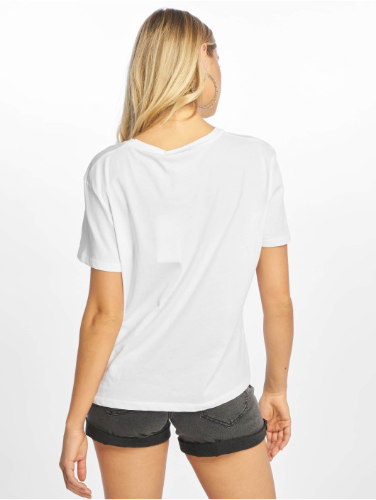 NA-KD Camiseta Double Logo blanco