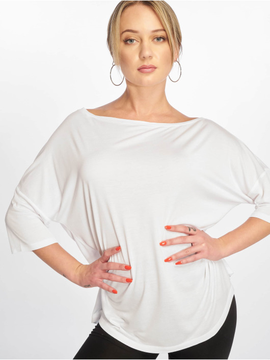 NA-KD Camiseta Off Shoulder Loose blanco