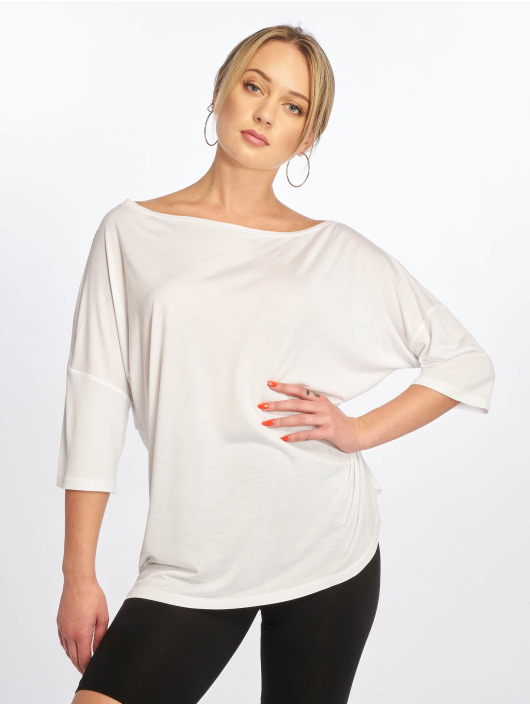 NA-KD Camiseta Off Shoulder Loose blanco