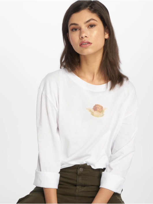 NA-KD Camiseta de manga larga Angel Tee blanco