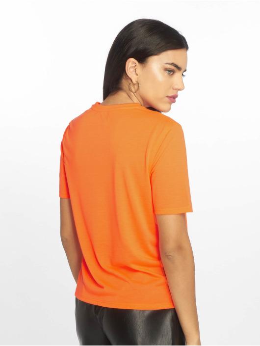 NA-KD Camiseta Neon Logo naranja