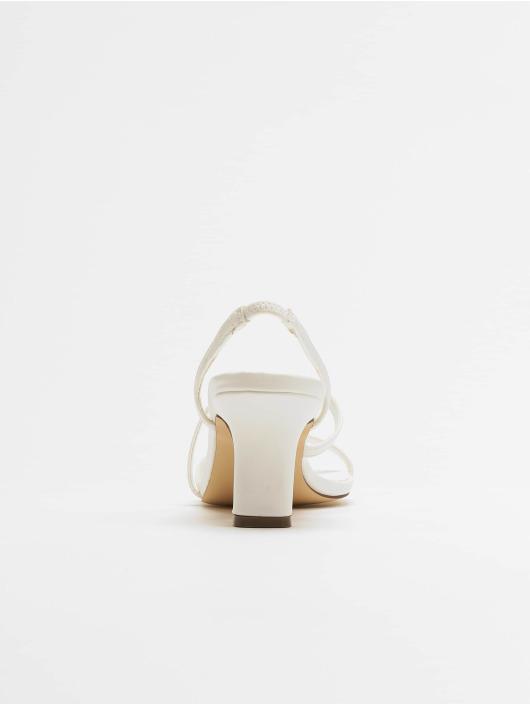 NA-KD Chanclas / Sandalias Asymmetric Straps blanco