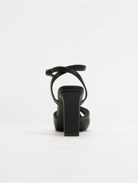 NA-KD Chanclas / Sandalias Heeled Strap negro