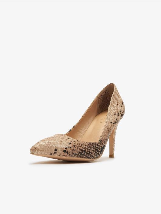 NA-KD Chaussures à talon Snake beige