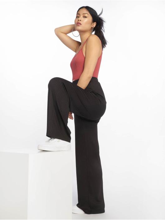 NA-KD Chino pants Ribbed black