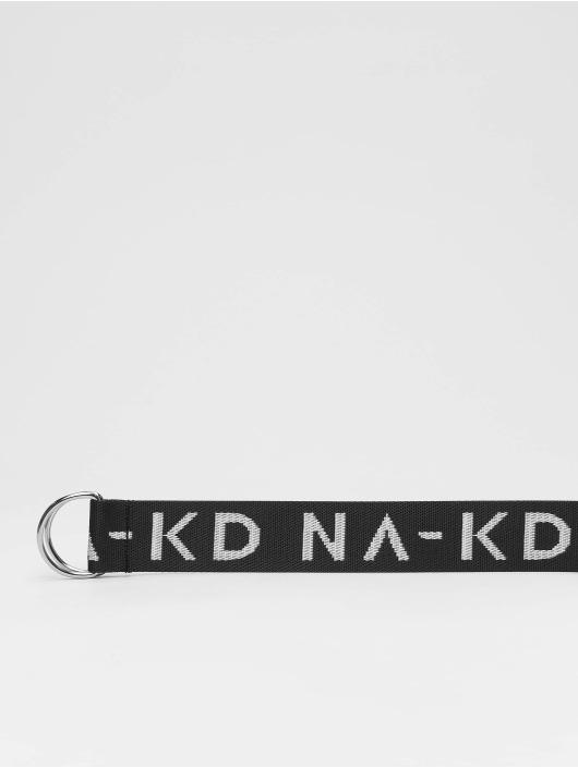 NA-KD Cinturón Long negro
