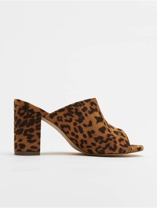NA-KD Claquettes & Sandales Leopard brun