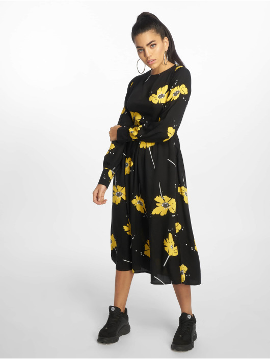 NA-KD Dress Wide Cuff Balloon Sleeve black