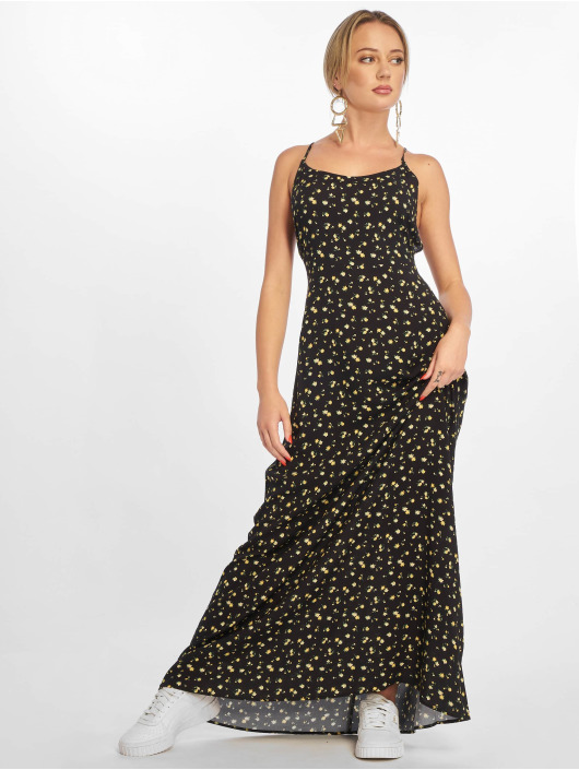 NA-KD Dress Open Back Floral black