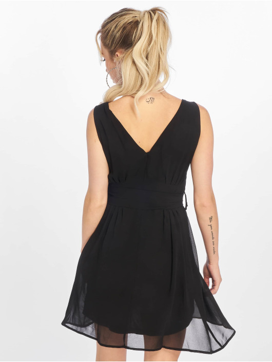 NA-KD Dress Belted Chiffon black