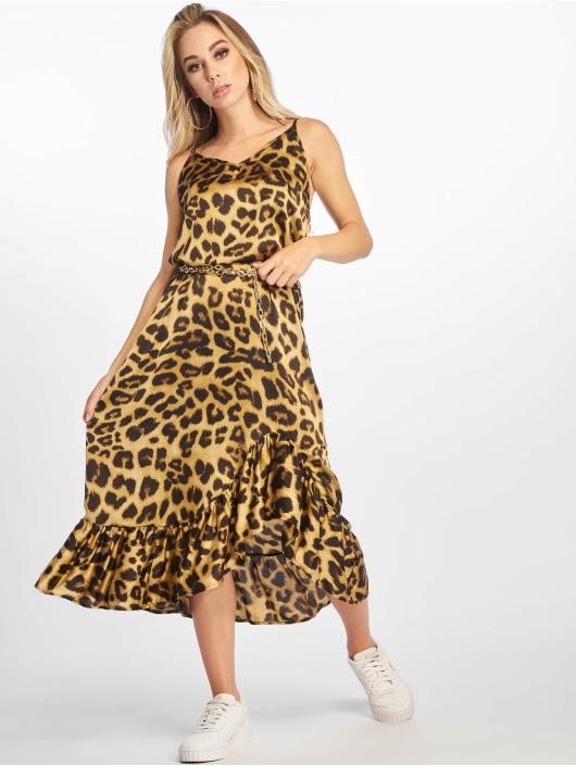 NA-KD Dress Long Frill brown