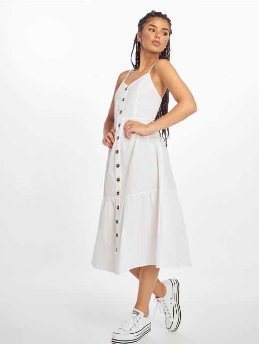 NA-KD Dress Tie Back Broiderie Anglais white
