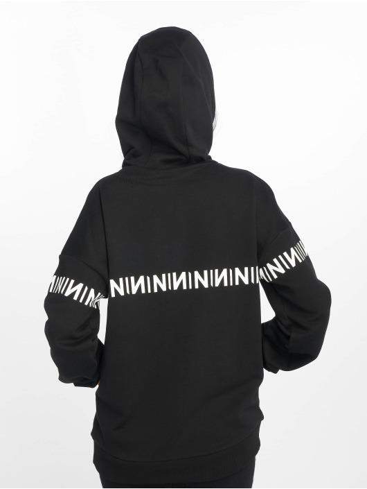 NA-KD Felpa con cappuccio N-Brand nero