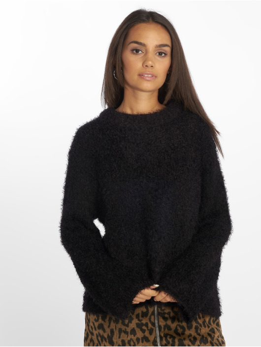 NA-KD Gensre Feather Wide Sleeve svart