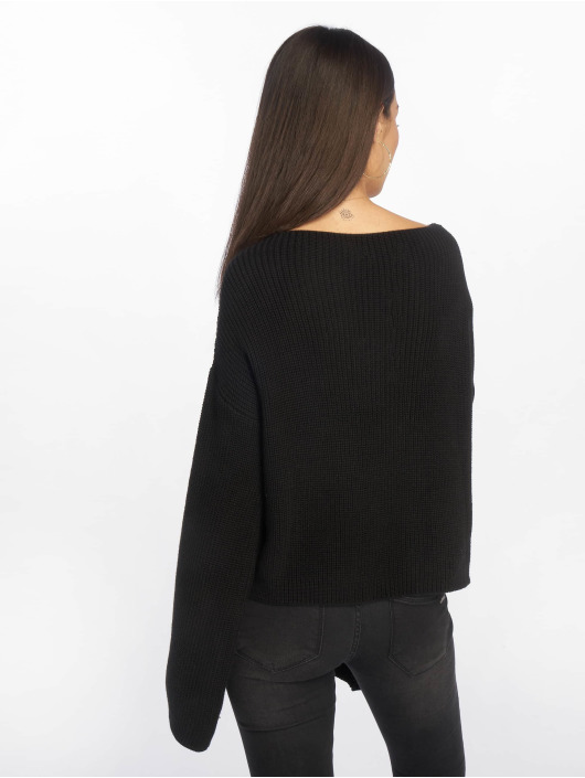 NA-KD Gensre Knitted Long Sleeve svart