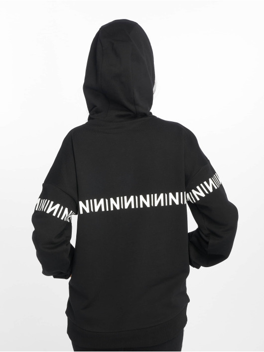 NA-KD Hoody N-Brand zwart