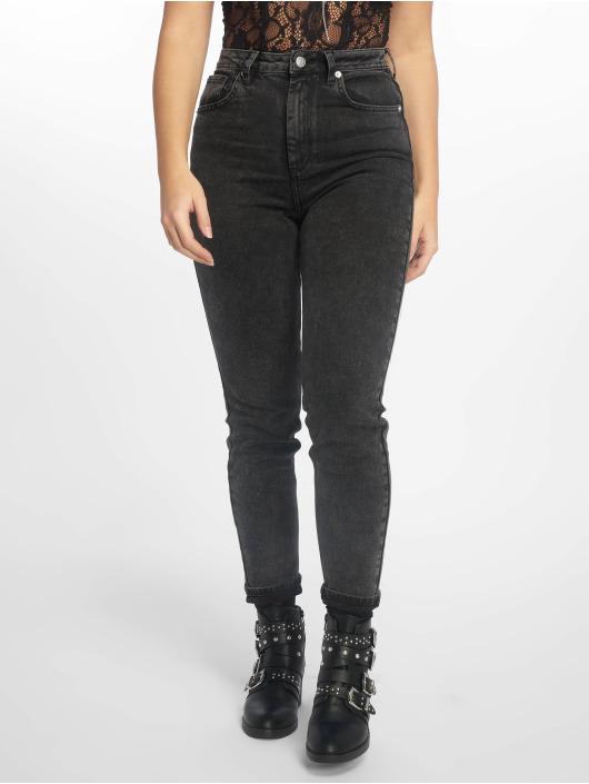 NA-KD Jeans slim fit High Rise nero