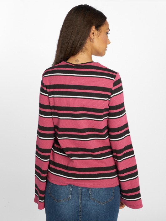 NA-KD Jersey Wide Sleeve Striped fucsia
