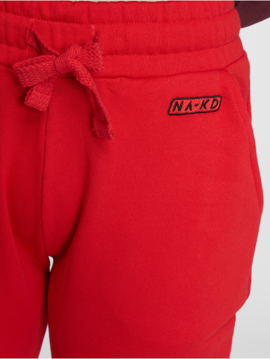 NA-KD Jogginghose Stripe Blocked rot