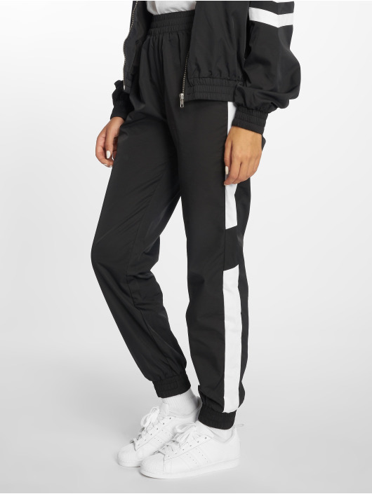 NA-KD Jogginghose Side Stripe schwarz