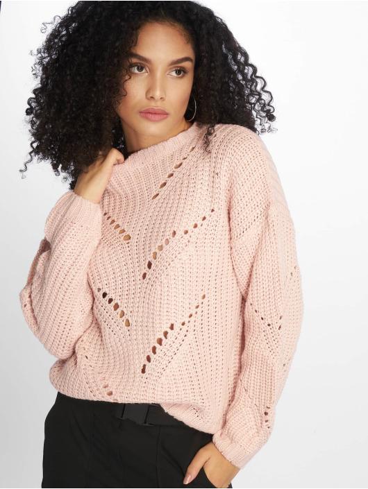NA-KD Jumper Vinga Hole Knit pink