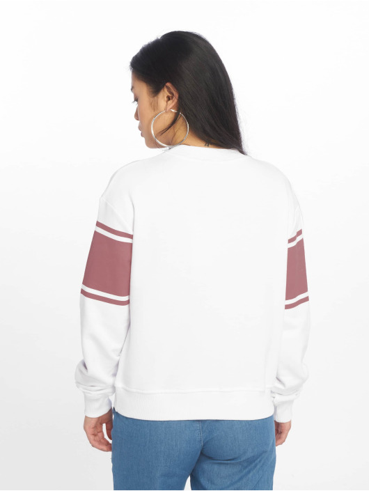NA-KD Jumper Striped Logo white