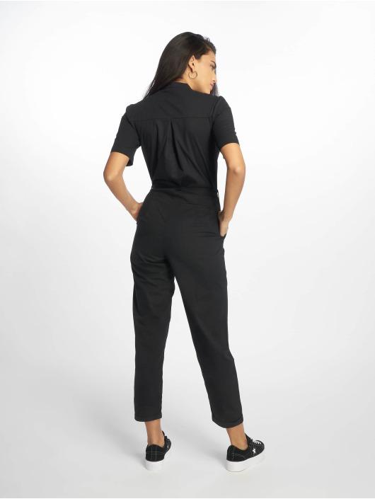 NA-KD Jumpsuits Short Sleeve Button Up svart