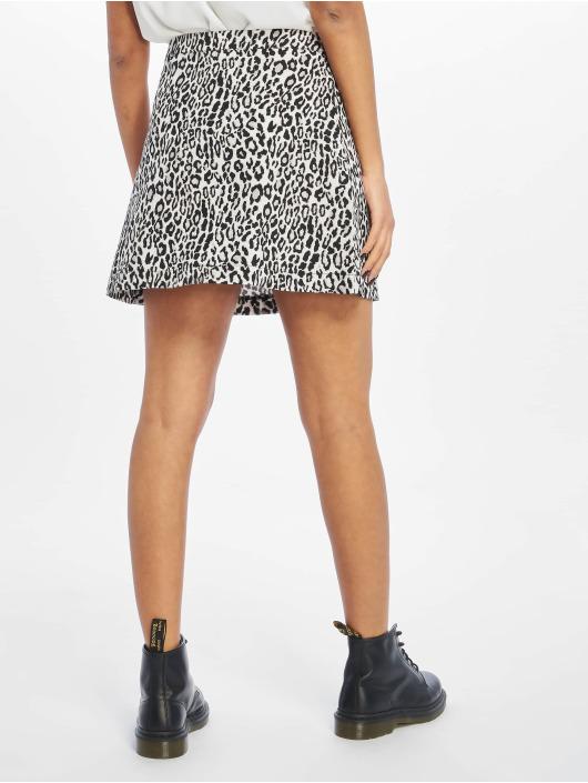 NA-KD Jupe Leopard Print noir