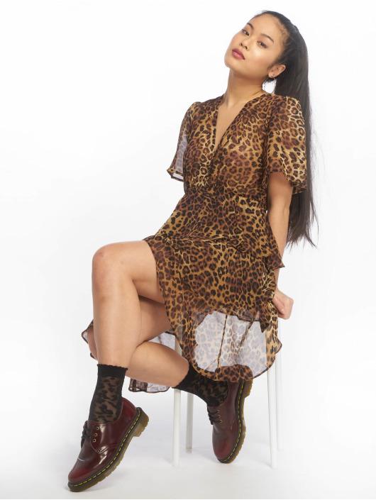 NA-KD jurk Flounce Triple Layer bruin