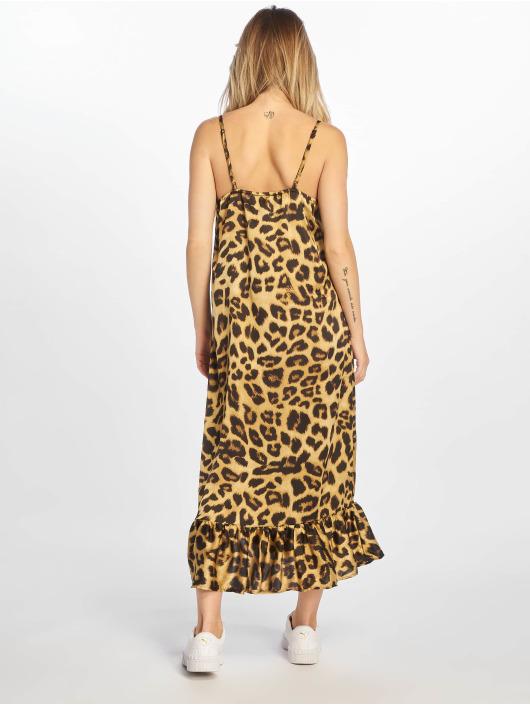 NA-KD jurk Long Frill bruin