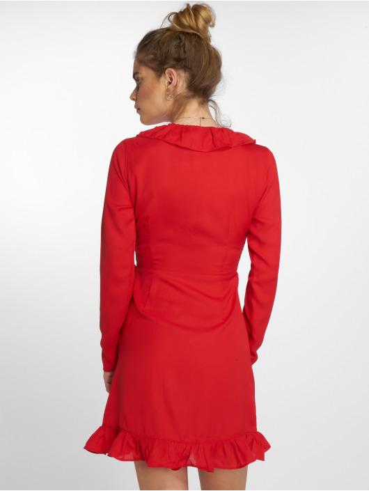 NA-KD jurk Long Sleeve Wrap Frill rood