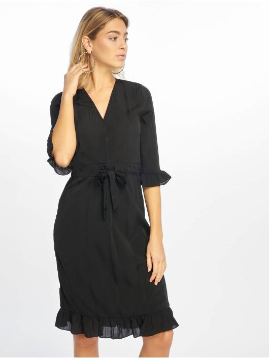 NA-KD jurk Small Flower Wrap zwart