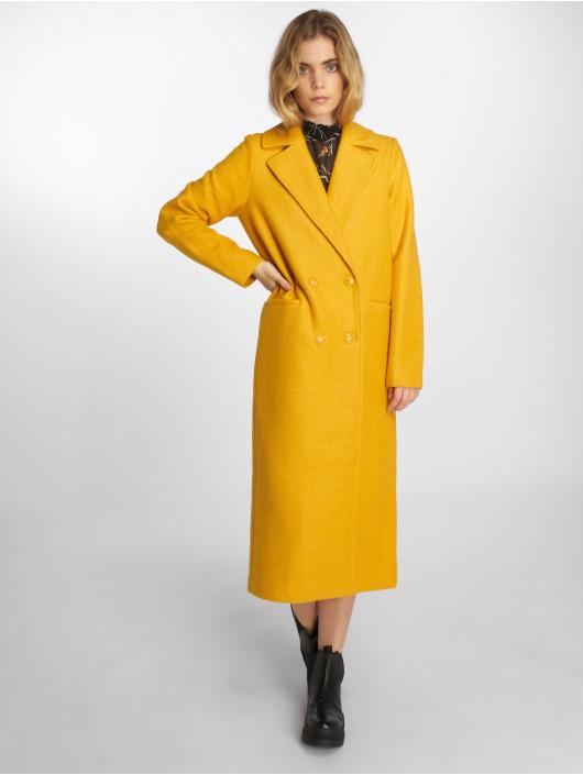 NA-KD Kabáty Double Breasted žlutý