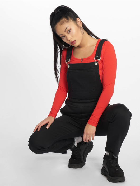 NA-KD Kalhoty s laclem Mimi čern