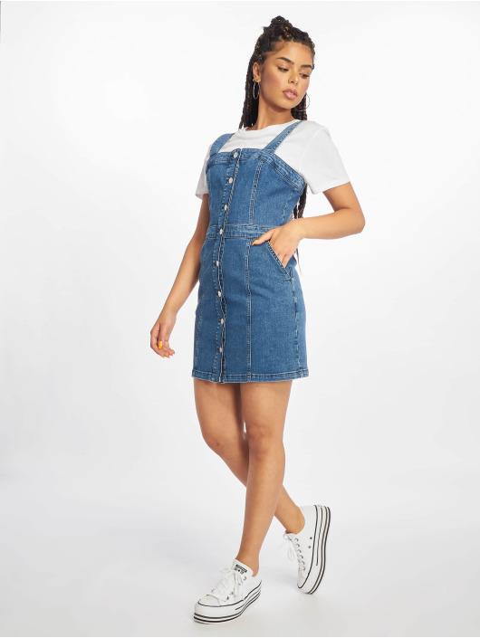 NA-KD Kleid Pinafore Mini blau
